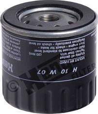 Hengst Filter H10W07 - Масляний фільтр autocars.com.ua
