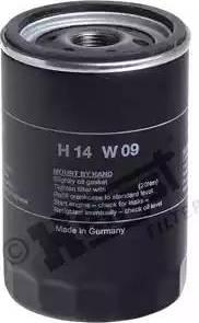 Hengst Filter H14W09 - Масляний фільтр autocars.com.ua