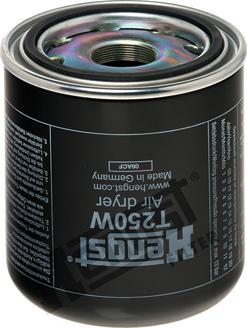 Hengst Filter T250W - Патрон осушителя воздуха, пневматическая система car-mod.com