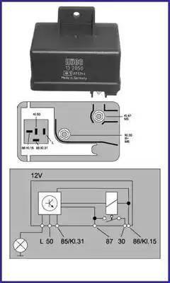 Hitachi 132050 - Реле, система накаливания car-mod.com
