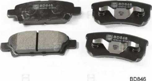 Hola BD846 - Комплект тормозных колодок, дисковый тормоз autodnr.net