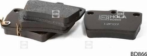 Hola BD866 - Комплект тормозных колодок, дисковый тормоз autodnr.net