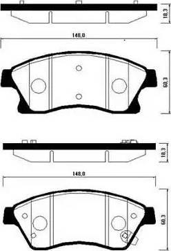 HSB Gold HP2021 - Тормозные колодки, дисковые car-mod.com