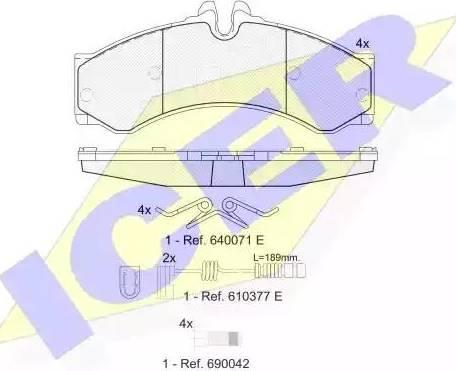 Icer 141126-203 - Тормозные колодки, дисковые car-mod.com