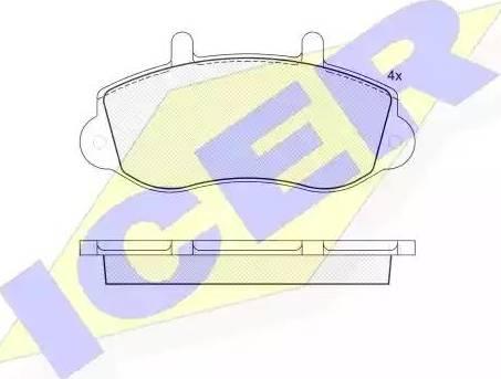 Icer 141219 - Комплект тормозных колодок, дисковый тормоз autodnr.net