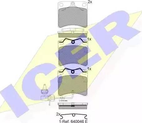 Icer 141321 - Комплект тормозных колодок, дисковый тормоз autodnr.net
