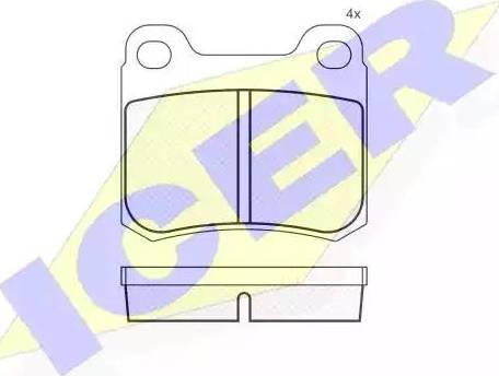 Icer 180420 - Комплект тормозных колодок, дисковый тормоз autodnr.net