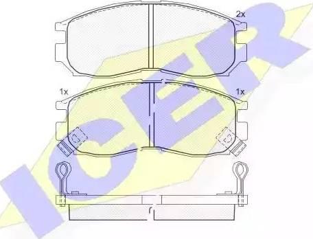 Icer 180771 - Комплект тормозных колодок, дисковый тормоз autodnr.net