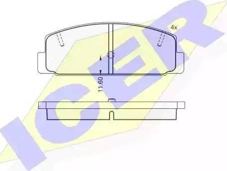 Icer 180785 - Комплект тормозных колодок, дисковый тормоз autodnr.net