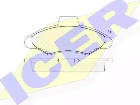 Icer 180790 - Комплект тормозных колодок, дисковый тормоз autodnr.net
