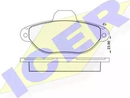 Icer 181018 - Гальмівні колодки, дискові гальма autocars.com.ua