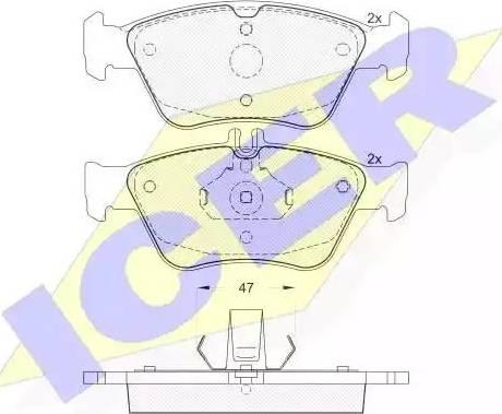 Icer 181115 - Тормозные колодки, дисковые car-mod.com