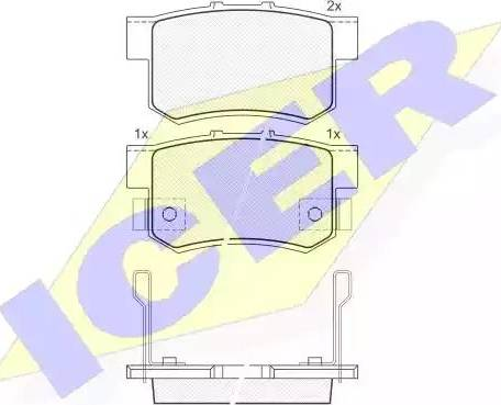 Icer 181187 - Тормозные колодки, дисковые car-mod.com