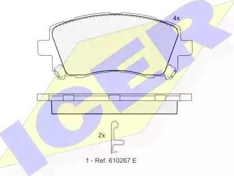 Icer 181247 - Комплект тормозных колодок, дисковый тормоз autodnr.net