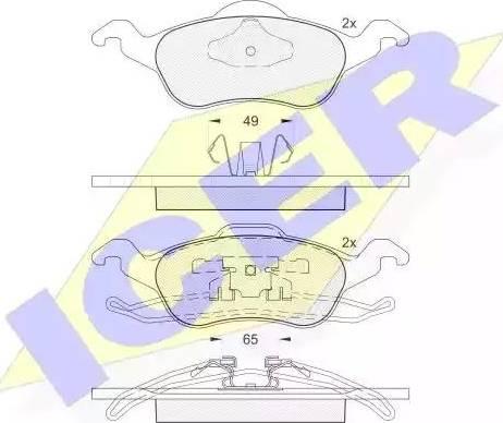 Icer 181264 - Тормозные колодки, дисковые car-mod.com