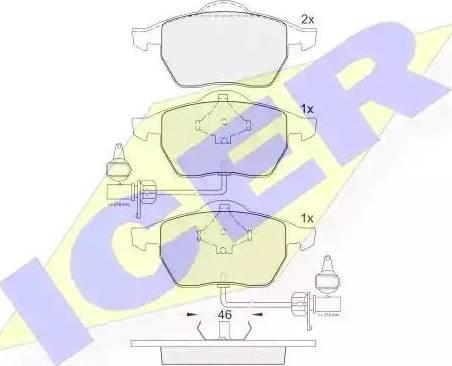 Icer 181362 - Тормозные колодки, дисковые car-mod.com