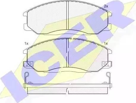Icer 181372 - Комплект тормозных колодок, дисковый тормоз autodnr.net