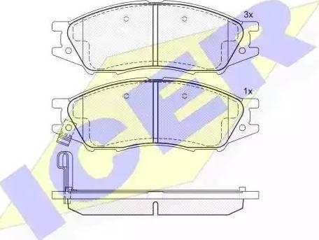 Icer 181635 - Комплект тормозных колодок, дисковый тормоз autodnr.net
