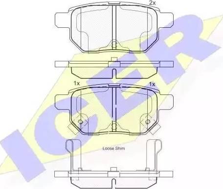 Icer 181899 - Тормозные колодки, дисковые car-mod.com