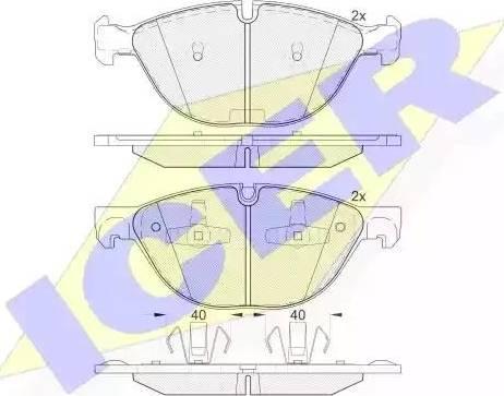 Icer 181905 - Комплект тормозных колодок, дисковый тормоз autodnr.net