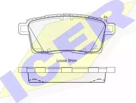 Icer 181963 - Комплект тормозных колодок, дисковый тормоз autodnr.net