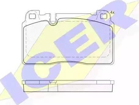 Icer 182112 - Комплект тормозных колодок, дисковый тормоз autodnr.net
