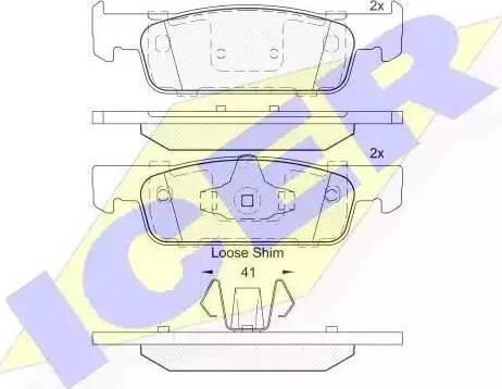 Icer 182115 - Тормозные колодки, дисковые car-mod.com
