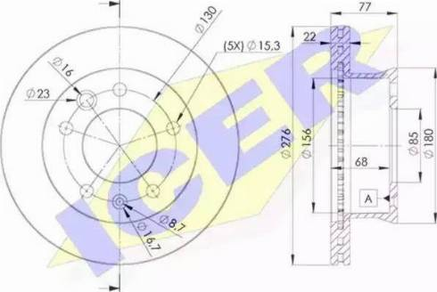 Icer 78BD0181-1 - Тормозной диск autodnr.net