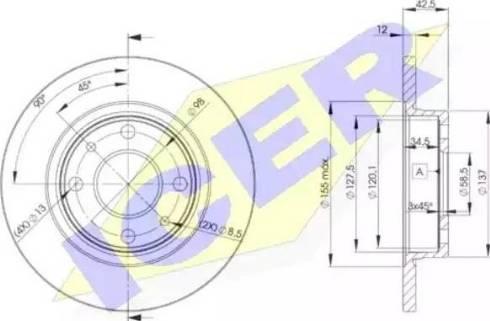 Icer 78BD1071-2 - Тормозной диск autodnr.net