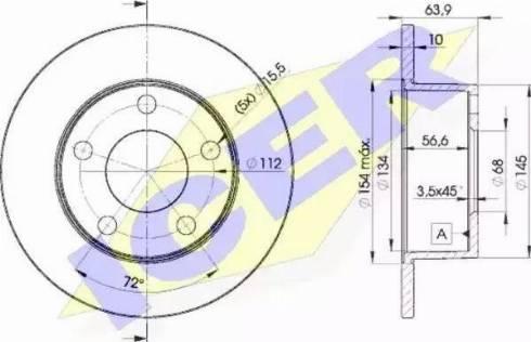 Icer 78BD4060-2 - Тормозной диск autodnr.net