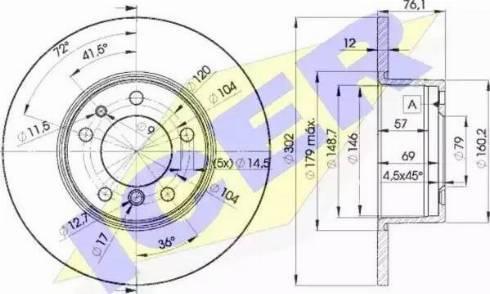 Icer 78BD8042-1 - Тормозной диск autodnr.net