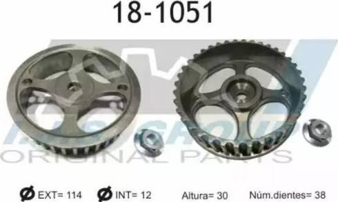 IJS GROUP 18-1051 - Шестерня, розподільчий вал autocars.com.ua