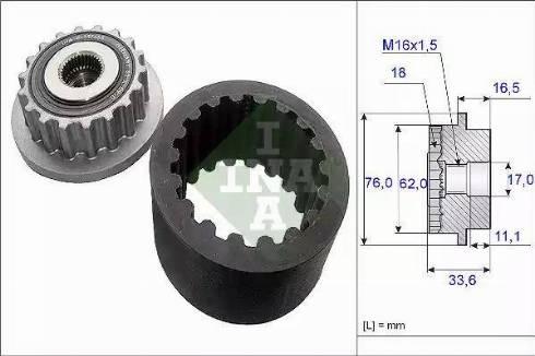 INA 535018610 - Комплект эластичной муфты сцепления car-mod.com