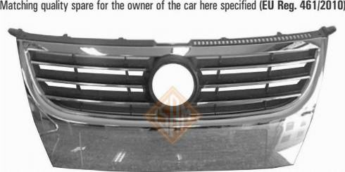 Isam 0932510 - Решітка радіатора autocars.com.ua
