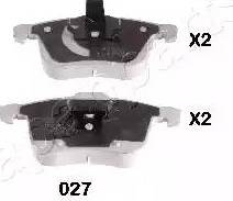 Japanparts PA-027AF - Комплект тормозных колодок, дисковый тормоз autodnr.net