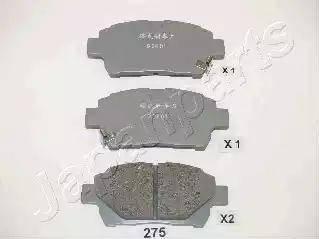 Japanparts PA-275AF - Комплект тормозных колодок, дисковый тормоз autodnr.net