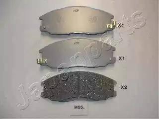 Japanparts PA-H05AF - Комплект тормозных колодок, дисковый тормоз autodnr.net