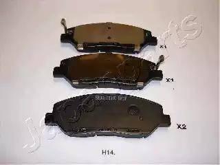Japanparts PA-H14AF - Комплект тормозных колодок, дисковый тормоз autodnr.net