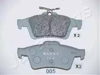Japanparts PP-005AF - Комплект тормозных колодок, дисковый тормоз autodnr.net