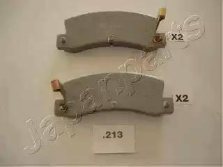 Japanparts PP-213AF - Комплект тормозных колодок, дисковый тормоз autodnr.net