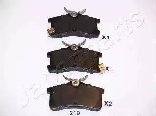 Japanparts PP-219AF - Комплект тормозных колодок, дисковый тормоз autodnr.net