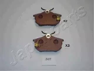 Japanparts PP-507AF - Комплект тормозных колодок, дисковый тормоз autodnr.net