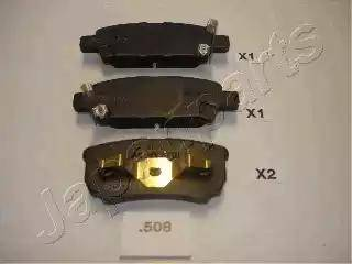 Japanparts PP-508AF - Комплект тормозных колодок, дисковый тормоз autodnr.net
