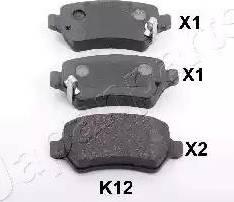 Japanparts PP-K12AF - Комплект тормозных колодок, дисковый тормоз autodnr.net