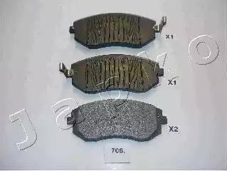 Japko 50706 - Тормозные колодки, дисковые car-mod.com