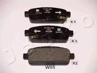 Japko 51W05 - Комплект тормозных колодок, дисковый тормоз autodnr.net