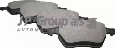 JP Group 1163604810 - Комплект тормозных колодок, дисковый тормоз autodnr.net