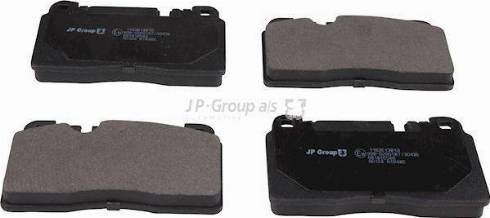 JP Group 1163613810 - Комплект тормозных колодок, дисковый тормоз autodnr.net