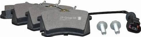 JP Group 1163705910 - Комплект тормозных колодок, дисковый тормоз autodnr.net