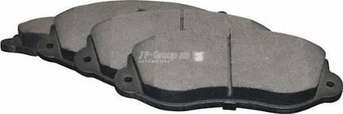 JP Group 1263602910 - Комплект тормозных колодок, дисковый тормоз autodnr.net